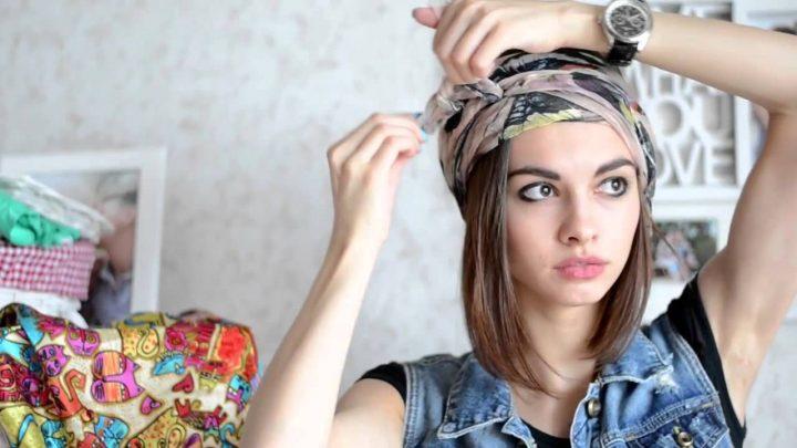 Как завязать косынку на голове